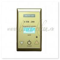 UTH-200 Терморегулятор накладной с сенсорным управлением 4 кВт Серебристый