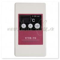 UTH-70 Терморегулятор накладной с цифровым дисплеем и сенсорным управлением 3 кВт Белый