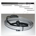 GWS16-2 CR (SMART HEAT) 1М Готовое устройство для обогрева трубопроводов саморегулирующимся греющим кабелем, 16W