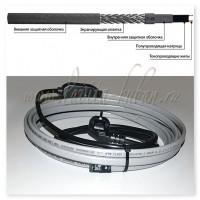 GWS16-2 CR (SMART HEAT) 2М Готовое устройство для обогрева трубопроводов саморегулирующимся греющим кабелем, 16W