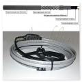 GWS16-2 CR (SMART HEAT) 8М Готовое устройство для обогрева трубопроводов саморегулирующимся греющим кабелем, 16W