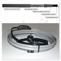 GWS16-2 CR (SMART HEAT) 12М Готовое устройство для обогрева трубопроводов саморегулирующимся греющим кабелем, 16W