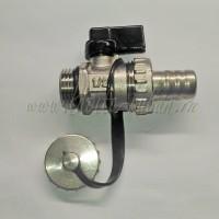 "1/2 Drain valve (B) Кран-клапан дренажный (спускной) ""НР"", Ручка-Рычаг"